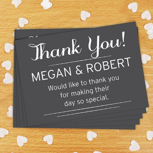 Personalised  Wedding Postcards Pack of 24